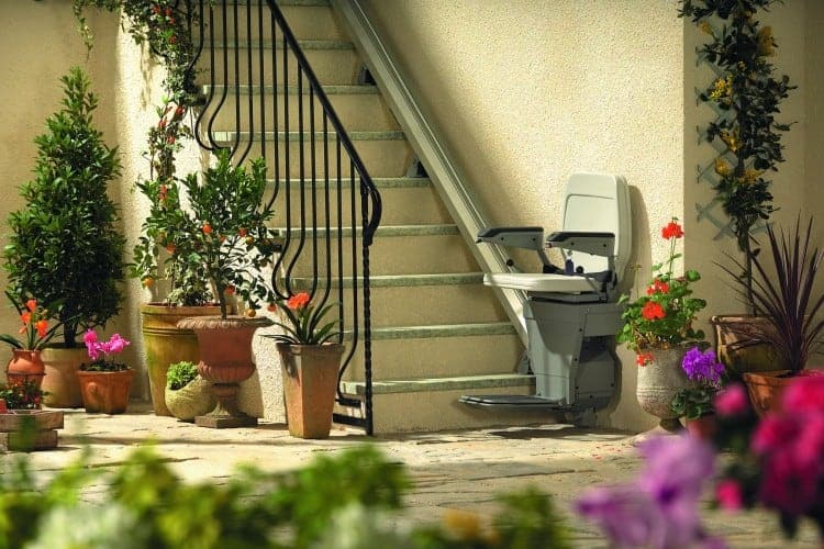 Outdoor stannah stairlift