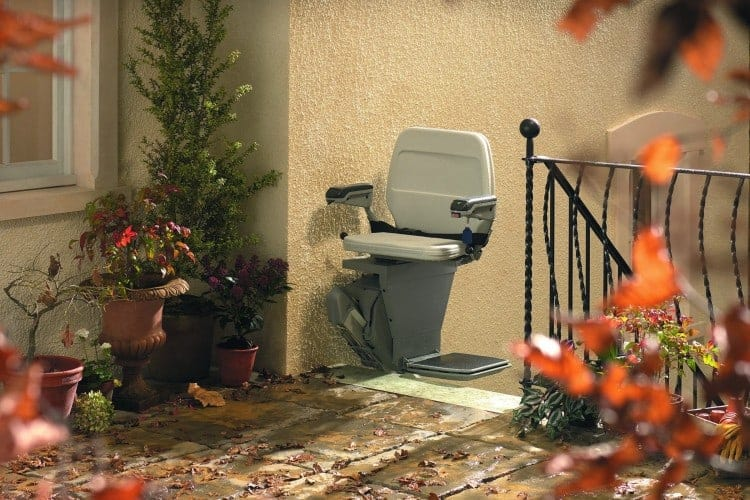Outdoor stannah stairlifts