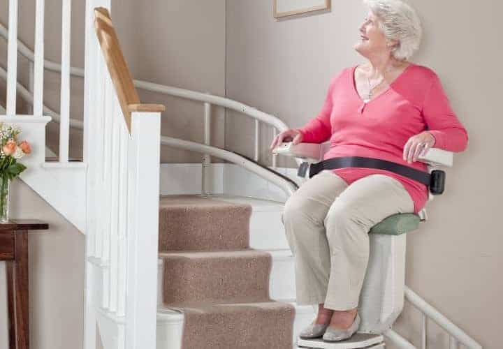 sarum curved stairlifts North West UK